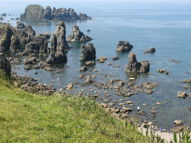 海、岸壁、岩、無料写真素材003