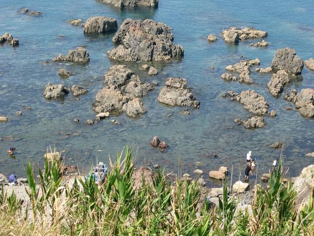 海、岸壁、岩、無料写真素材005