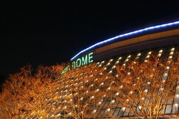 後楽園、東京ドームXmasイルミネーション無料写真素材014