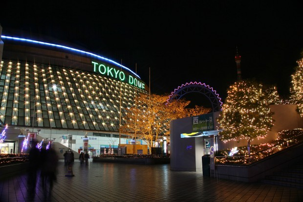後楽園、東京ドームXmasイルミネーション無料写真素材036