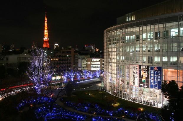 六本木ヒルズ(テレビ朝日)クリスマス無料写真素材006