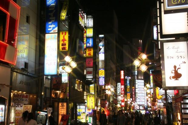 新宿東口・夜景(歌舞伎町)無料写真素材074