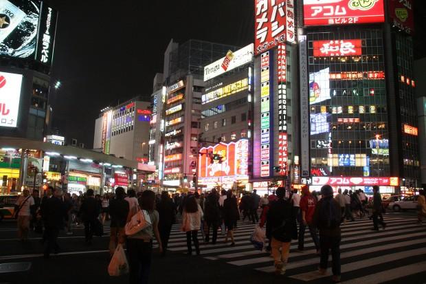 新宿西口・夜景、無料写真素材080