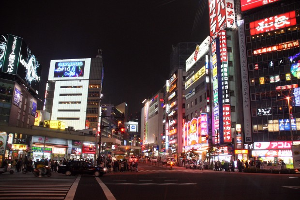 新宿西口・夜景、無料写真素材081