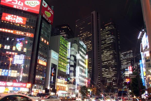 新宿西口・夜景、無料写真素材082
