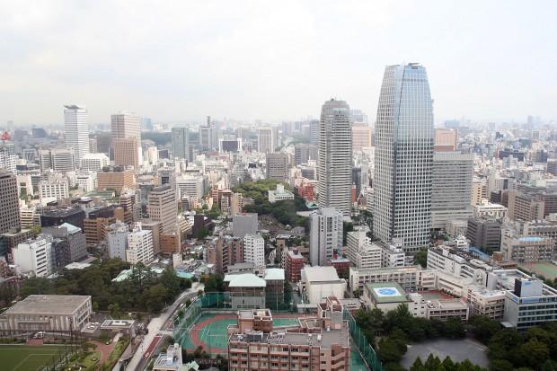 高層ビル風景、町並みの無料写真素材