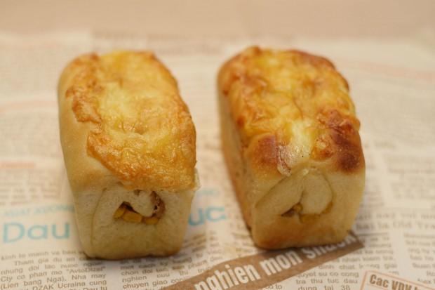 パン(コーンチーズのミニ食)フリー写真素材047