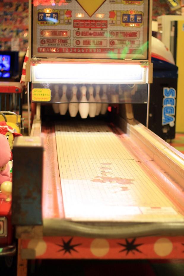 昭和のゲーム機(ボウリング)フリー写真素材007