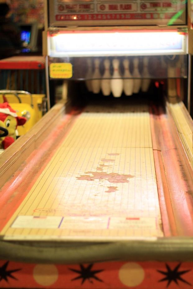 昭和のゲーム機(ボウリング)フリー写真素材008