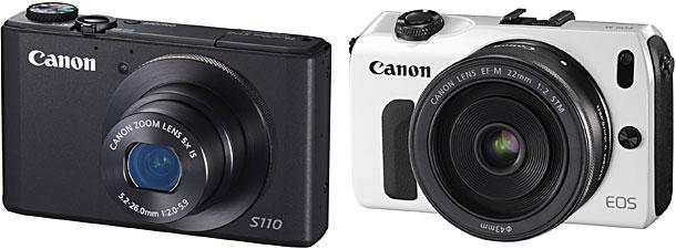 Canon「PowerShot S110」と「EOS M」