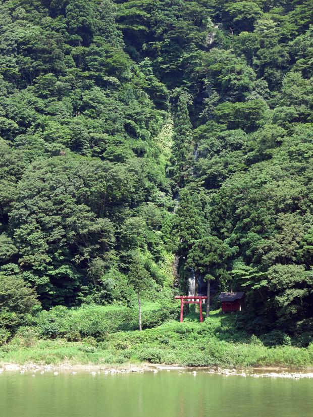 滝、森林(白色の滝)010