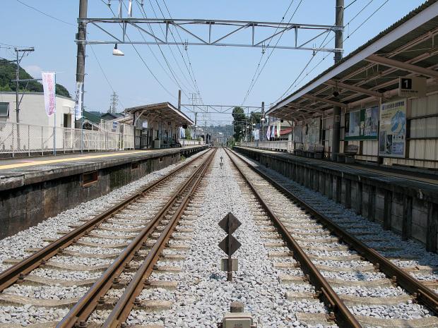 箱根ロマンスカー|線路景色|ローアングル009