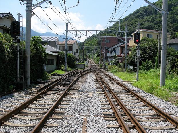 箱根ロマンスカー|線路景色|ローアングル010