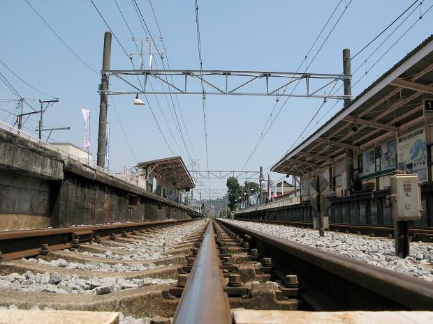箱根ロマンスカー|線路景色|ローアングル011