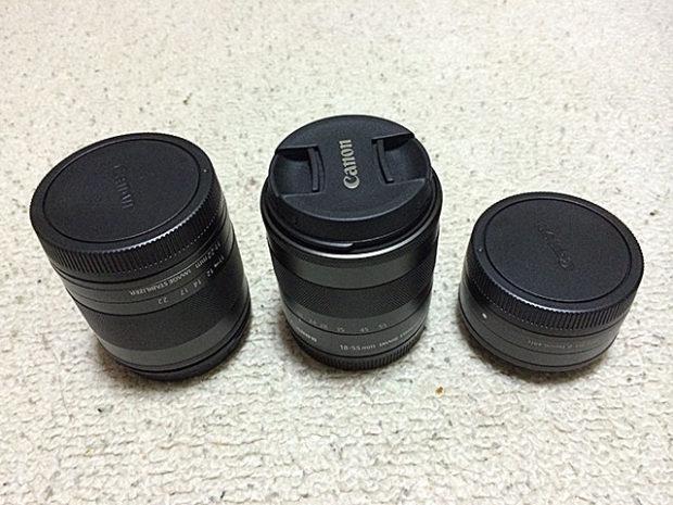 レンズは全部で3本