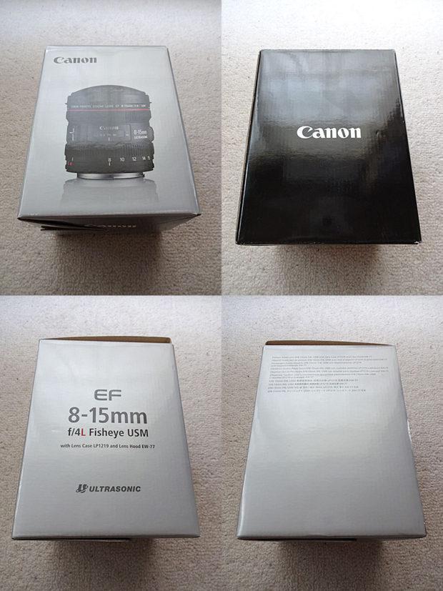 EF8-15mm F4L フィッシュアイ USM商品パッケージ側面